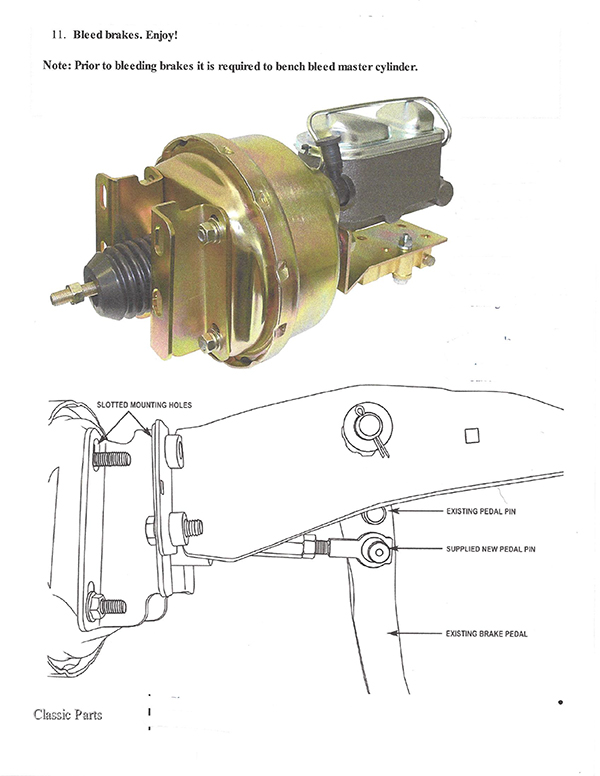 1964-66 Ford Mustang Power Brake Booster Firewall Zinc Mounting Brackets