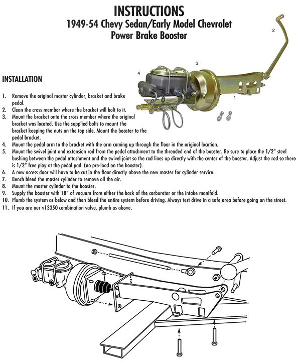1949-54 Chevy Belair, Fleetline Car Power Brake Conversion
