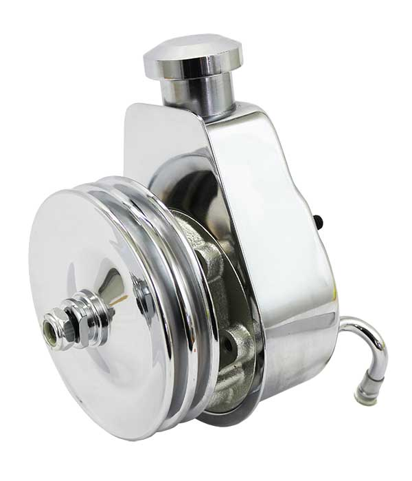 Saginaw Power Steering Pump Chrome With Billet Cap And