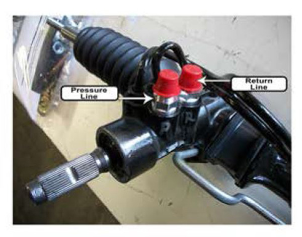 1948-52 Ford F-1 Truck, Power Steering Rack and Pinion