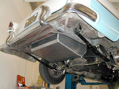 1955 57 Chevy Belair Fuel Tank Aluminum 16 Gallon Combo