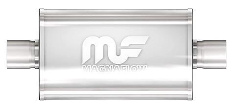 "Magnaflow Center / Center 14"" Race Muffler - Polished Stainless Steel"