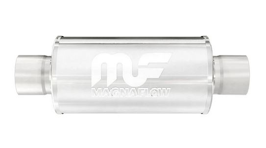 """Magnaflow 6"""" Round, 6"""" Long Center / Center Race Muffler - Polished Stainless Steel"""