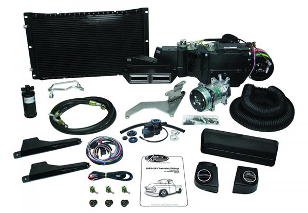 1955-57 Chevy Truck SureFit Complete A/C and Heat Kit for Standard Controls