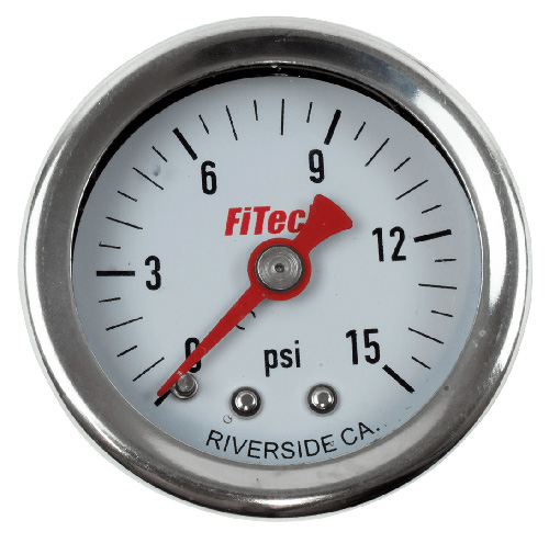 FiTech Fuel Pressure Gauge, Oil Filled
