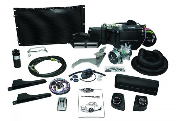 1955-57 Chevy Truck SureFit Complete A/C and Heat Kit with Deluxe Controls