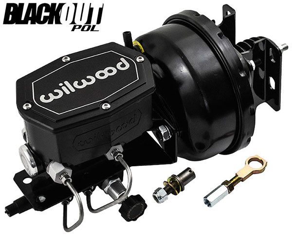 1964-66 Ford Mustang Black Out Power Brake Booster with Wilwood Master Cylinder