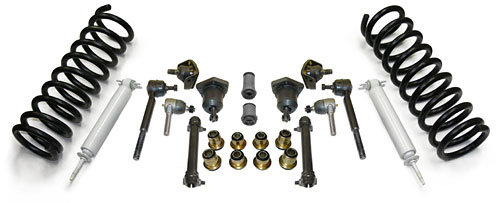 1955-57 Chevy Belair Front Suspension Rebuild Kit, Super Deluxe with Polyurethane Bushings