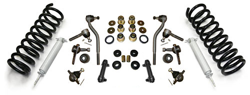 1962-67 Chevy Nova Front Suspension Rebuild Kit, Super Deluxe PolyUrethane