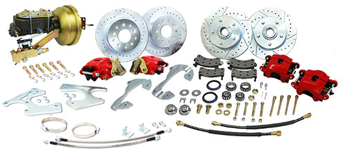 1955-57 Chevy Belair Power Disc Brake Conversion Kit, Front and Rear, Stock Spindle