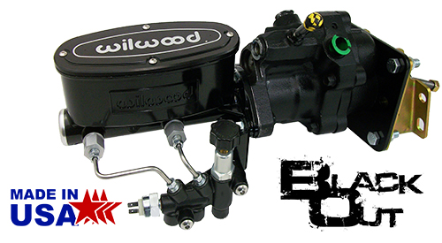 1966-70 Chevy Impala Hydro Boost Power Brake Booster Kit and Black Wilwood Master Cylinder