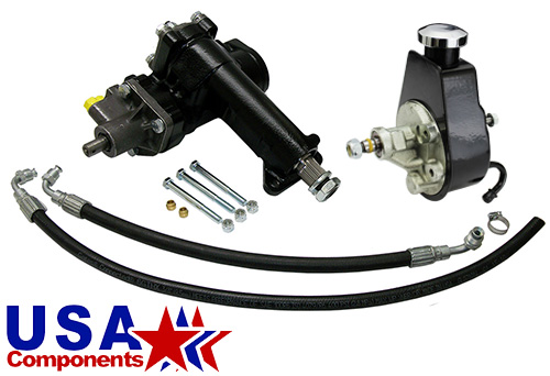 1955-57 Chevy Belair Power Steering Conversion Kit, 600 Series Gear Box