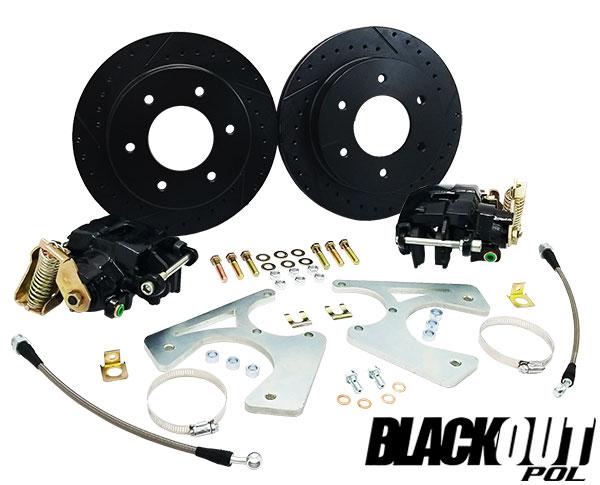 1963-70 Chevy C10 Black Out Disc Brake Conversion Kit, Rear 6-Lug