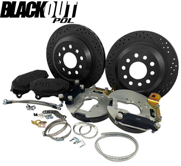 "POL - 12"" Rear Disc Brake Conversion, GM 10-12 Bolt BLACKOUT, Baer Track 4"
