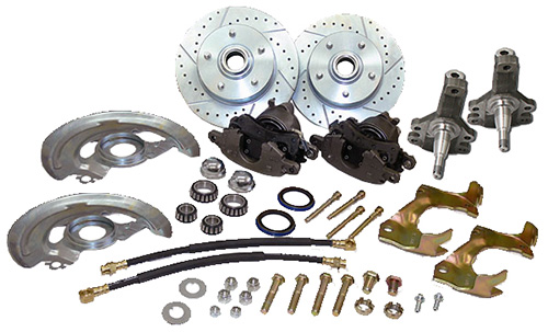 "1964-72 Chevy Chevelle Disc Brake Conversion Kit, 2"" Drop OEM Spindles"
