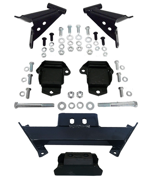 1955-57 Chevy Belair Convertible Engine and Transmission Mount Kit, Deluxe Type