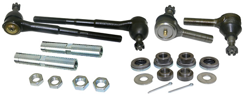 1955-57 Chevy Belair, High Performance Tie Rod and Idler Bearing Kit, For Tubular Control Arms