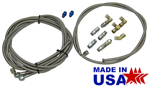 Hydro Boost Hose Hook Up Kit with Fittings, Stainless