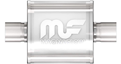 "Magnaflow Center / Center 6"" Race Muffler - Polished"