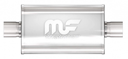 "Magnaflow Center / Center 14"" Race Muffler - Polished Stainless Steel"