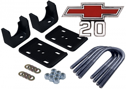 1967-72 Chevy C20 and GMC C25 Truck Rear Axle Flip Kit