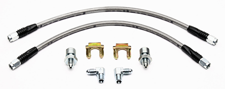 Wilwood - Disc Brake Conversion Hose Kit, Front, Braided Stainless Wilwood Calipers 16""