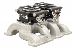 FiTech 30062 Go EFI Dual Quad 625 HP Fuel Injection System, Matte Black