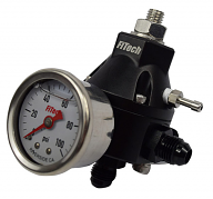 Fitech Fuel Pressure Regulator with Gauge for EFI