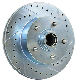 GM Brake Rotors, Cross Drilled and Gas Slotted, Front #5514