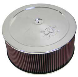 "14"" K & N Air Cleaner Assembly, 7/8"" Drop Base"