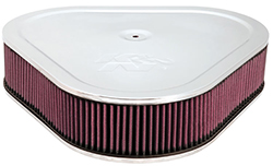 "14"" K & N Triangle Air Cleaner, Chrome"
