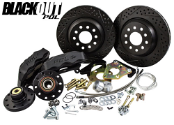 """POL - 1965-69 Ford Mustang 13"""" BLACKOUT Track 4 Disc Brake Conversion by Baer"""