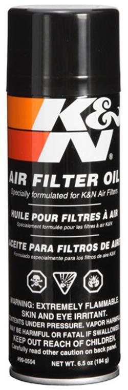 K & N Air Filter Oil, 6.5oz Aerosol Spray