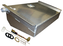 1962-67 Chevy Nova Aluminum Fuel Tank Combo Kit, 16 Gallons
