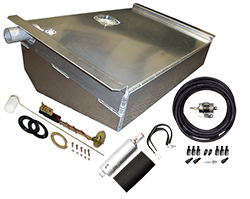 1962-67 Chevy Nova Aluminum Fuel Tank Kit, Fuel Injection Ready, 16 Gallons