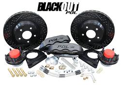 """POL - 1964-74 GM A, F, X Body 13"""" BLACKOUT Track 4, Disc Brake Conversion by Baer"""
