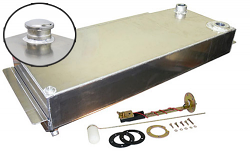 1947-53 Chevy, GMC Truck Aluminum Fuel Gas Tank Combo Kit, 19 Gallon with Chrome Cap