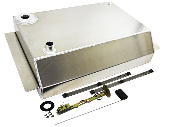 1963-66 Chevy, GMC Truck Aluminum Fuel Tank Combo Kit, 19 Gallon with Chrome Gas Cap