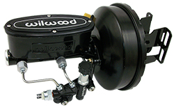 1960-66 Chevy C10, GMC C15 Truck Black Out Series Power Brake Booster Kit with Wilwood Master Cylinder