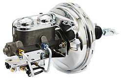 1962-67 Chevy Nova Power Brake Booster Kit, Chrome