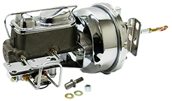 1964-66 Ford Mustang Power Brake Booster Kit, Chrome