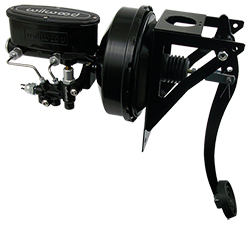 Universal Black Out Series Power Brake Conversion with Wilwood Master Cylinder, Firewall Mount