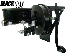 1954-55 Chevy, GMC Truck Black Out Power Brake Conversion with Wilwood Master Cylinder, Firewall Mount