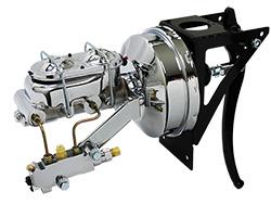 1953-56 FORD F-100 Firewall Mount Power Brake Booster Kit Disc Drum