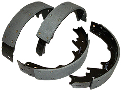 Brake Shoes, Front or Rear, High Performance, 1936-50 Chevy Car and Truck
