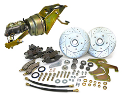 "1953-56 Ford F-100 Truck Power Disc Brake Conversion Kit, Firewall Mount Booster, 5.5"" Bolt Pattern"