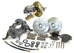 "1975-78 Chevy Nova Power Disc Brake Conversion, 2"" Drop Spindles"