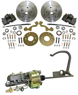 1949-51 Ford Car, Front Power Disc Brake Conversion Kit, Complete