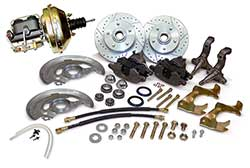 1962-67 Chevy Nova Power Disc Brake Conversion Kit, Stock Spindles