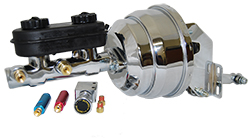 1962-74 Mopar, Dodge, Chrysler, Plymouth Car Chrome Power Brake Booster Kit